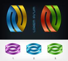 Logo Ribbon, Business Abstract...