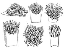Graphical Set Of French Fries ...