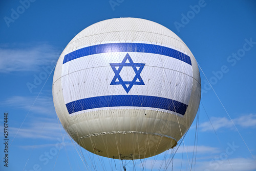 flag Israel on the ball - 297674440