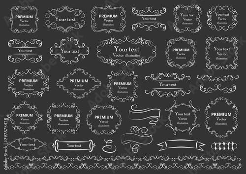 Calligraphic design elements Wallpaper Mural
