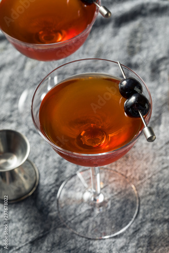 Homemade Rob Roy Cocktail