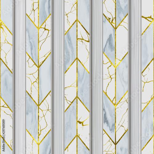 rzezbiacy-pionowo-lampasow-wzor-na-tlo-bezszwowej-teksturze-patchworku-wzorze-marmuru-i-zlota-stylu-szewron-tekstura-3d-ilustracja