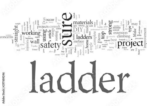 DIY Ladder Safety Tips Canvas Print