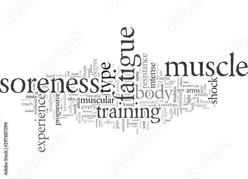 Photo Deep Muscle Soreness And Body Shock Fatigue