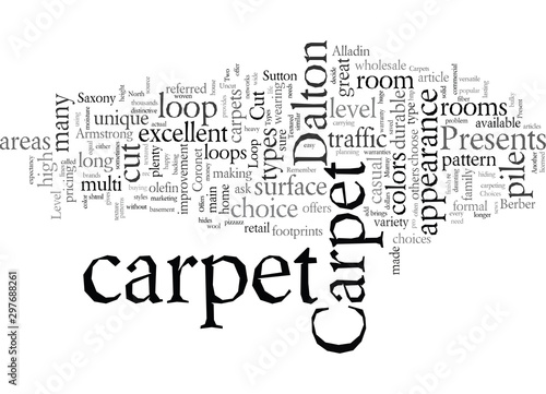 Dalton Carpet Offers You Choices Canvas Print