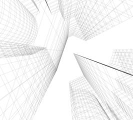 architecture building, vector 3d illustration