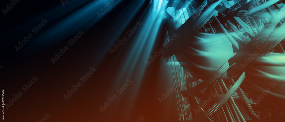 Fototapety, obrazy: 3D rendering of abstract digital technology background