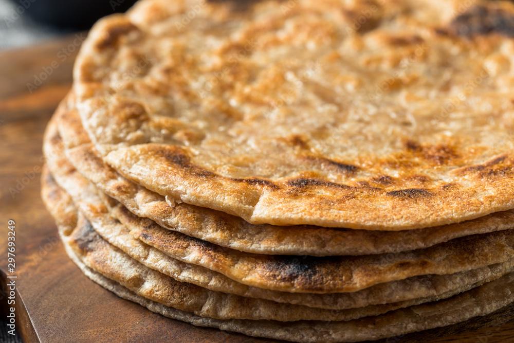 Fototapety, obrazy: Homemade Indian Roti Chapati Bread