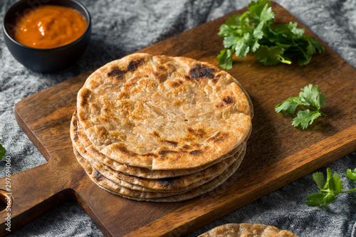 Fotobehang Brood Homemade Indian Roti Chapati Bread