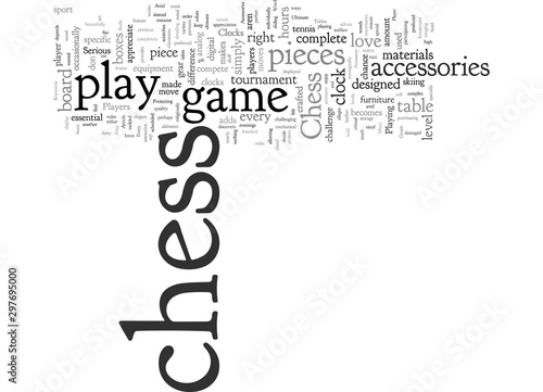 Chess Accessories For The Avid Player Wallpaper Mural