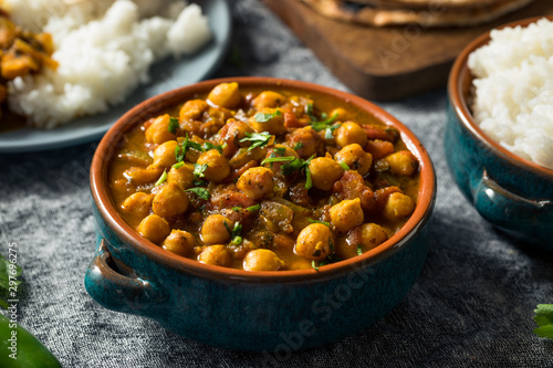 Homemade Indian Chickpea Chana Masala Canvas Print