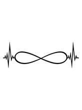 Endlos Unendlich Herzschlag Puls Frequenz Ewig Grenzenlos Ohne Ende Symbol Zeichen Schleife Design Cool Für Immer Liebe Zusammen Paar Verbunden Clipart