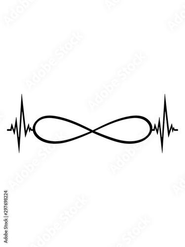 Fotografía  endlos unendlich herzschlag puls frequenz ewig grenzenlos ohne ende symbol zeich