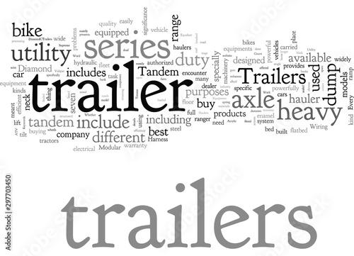 bike trailer car hauler dump trailers tandem axle trailer utility trailer Canvas Print