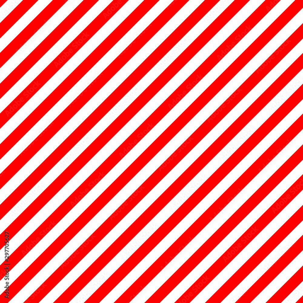 Fototapeta Christmas Candy Cane Stripes Seamless Vector Pattern in Red and White. Popular Winter Holiday Backdrop. Even Width Stripes. Diagonal Lines Background. Repeating Tile Swatch Included.