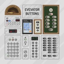 Elevator Buttons Vector Lift M...