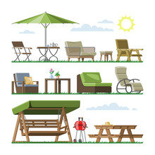Garden Furniture Vector Table ...