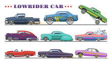 Car Vector Vintage Low Rider A...