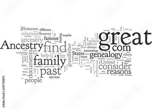 ancestry com genealogy Canvas Print