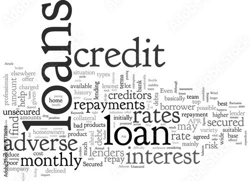 Adverse Credit Loans Wallpaper Mural