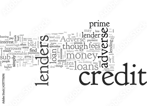 Photo Adverse Credit Loans The Facts