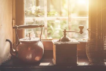 Vintage window with grind m...