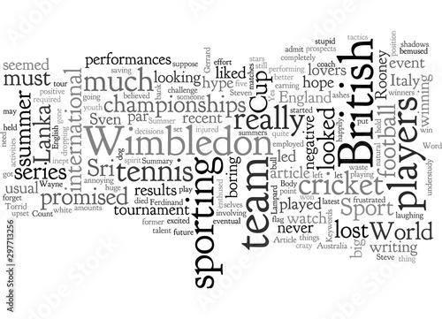 Photo  A Torrid Summer For British Sport