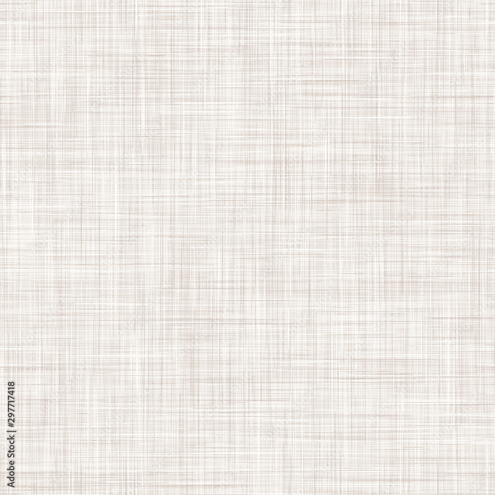 Fototapety, obrazy: Natural White Gray French Linen Texture Background. Old Ecru Flax Fibre Seamless Pattern. Organic Yarn Close Up Weave Fabric for Wallpaper, Ecru Beige Cloth Packaging Canvas. Vector EPS10 Repeat Tile