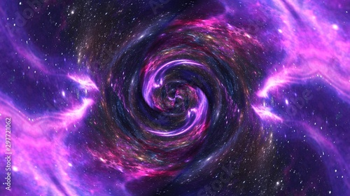 Foto auf AluDibond Spirale Planets and galaxy. black hole, Science fiction wallpaper. Astronomy is the scientific study of the universe stars, planets, galaxies, abstract background with space for text