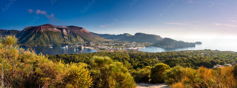 Fototapety, obrazy: Panoramic view of Vulcano an aeolian island