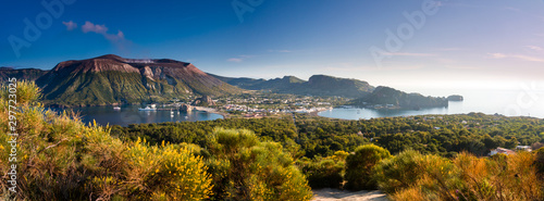 Photo sur Toile Cote Panoramic view of Vulcano an aeolian island