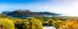 Leinwanddruck Bild - Panoramic view of Vulcano in the aeolian island a volcanic archipelago
