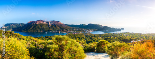 Poster Island Panoramic view of Vulcano in the aeolian island a volcanic archipelago