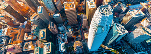 Downtown San Francisco aerial view of skyscrapers Fotobehang