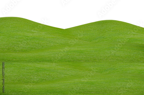 Photo sur Toile Herbe Green grass field isolated on white background with clipping path.