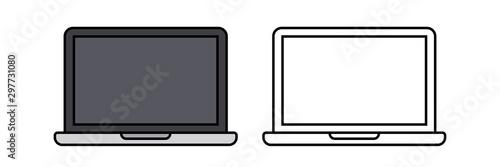 Fototapeta laptop icon illustration vector obraz na płótnie