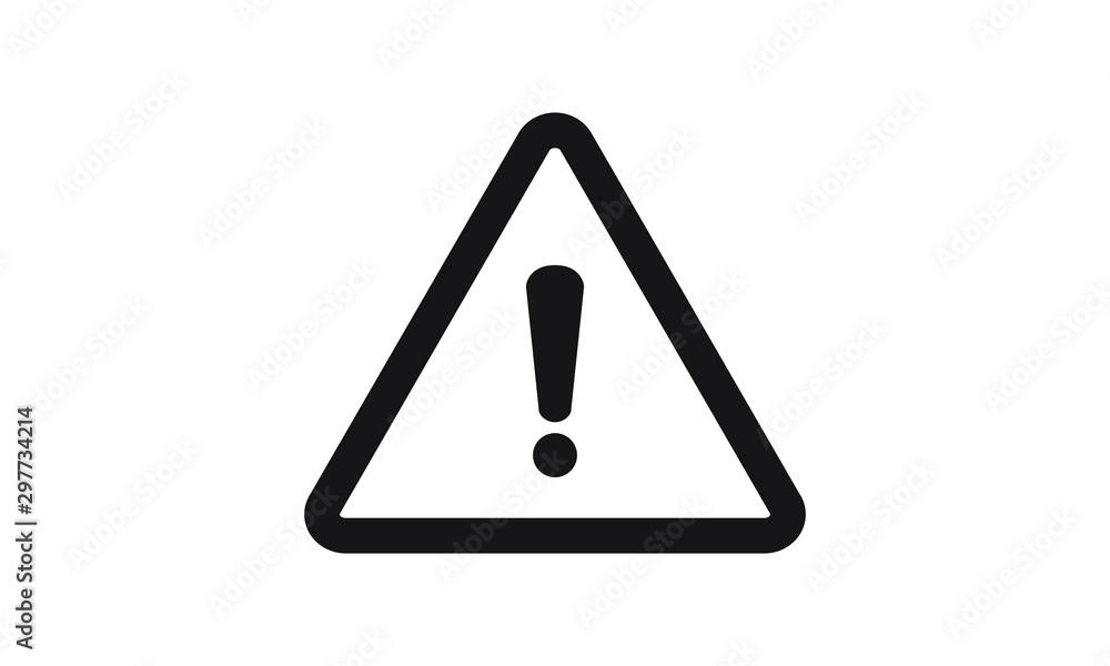 Fototapeta exclamation mark icon vector