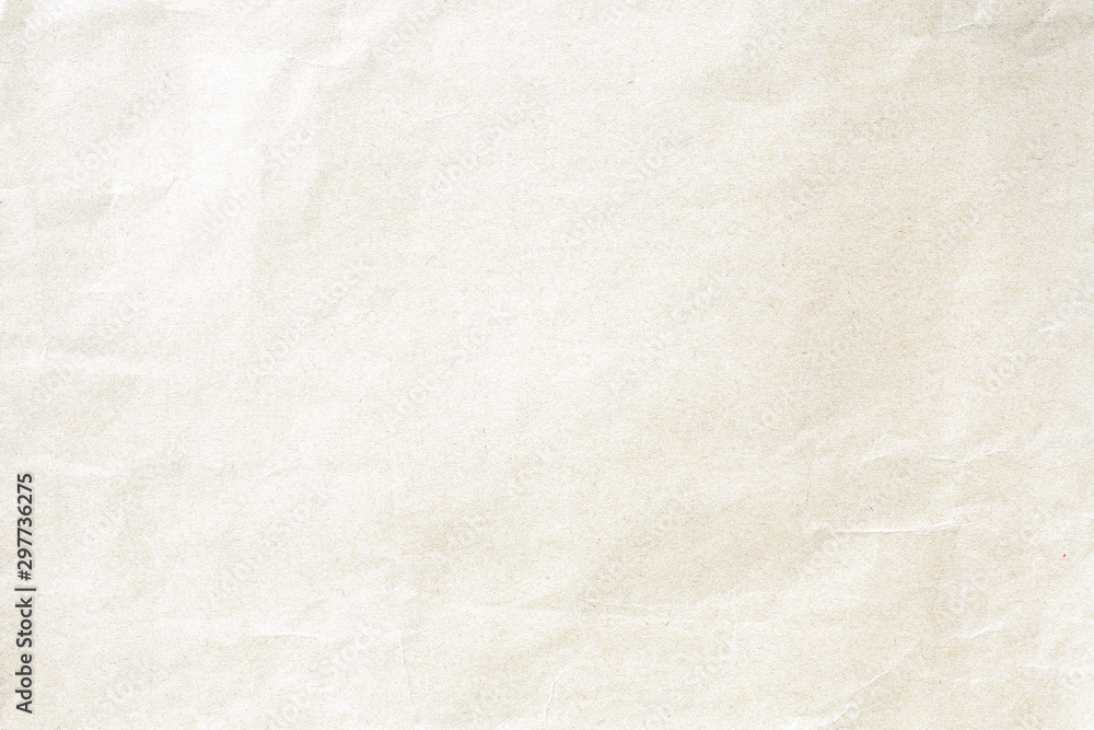Fototapety, obrazy: Soft brown crumpled winkle detail background paper texture