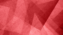 Abstract Red And White Background With Geometric Diamond And Triangle Pattern. Elegant Christmas Color With Textured Light Shapes And Angles In Modern Contemporary Design.