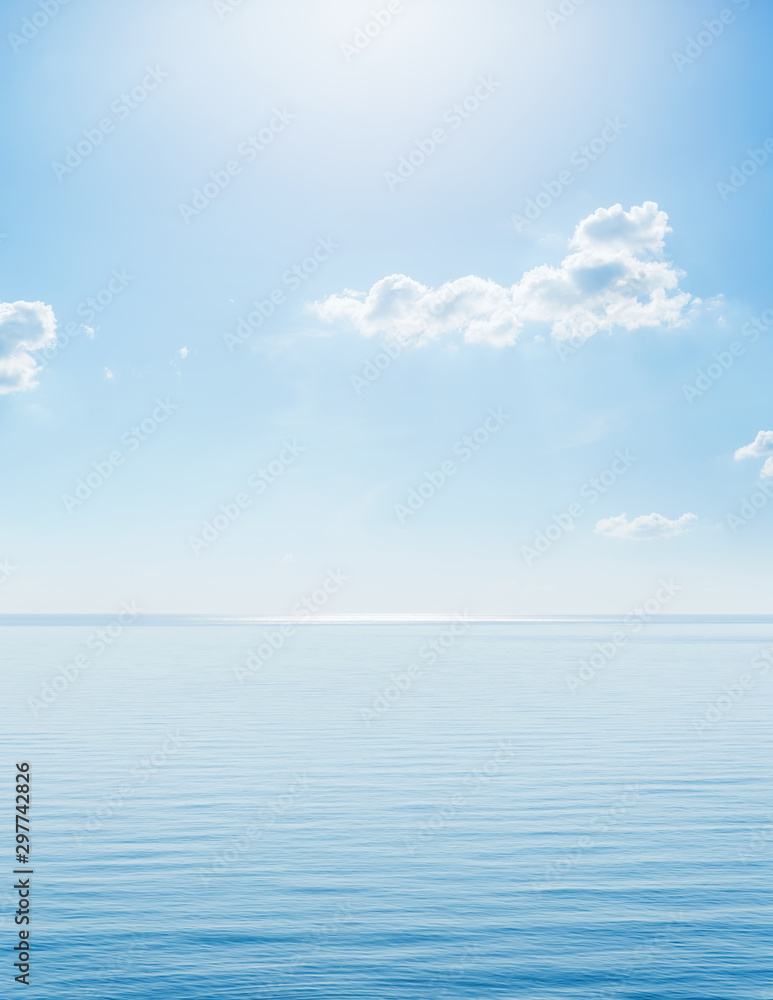 Fototapety, obrazy: sunshine in blue sky with clouds over sea