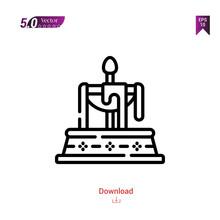 Outline Black Fountain Icon. F...
