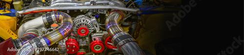 Canvastavla  Details of car engine