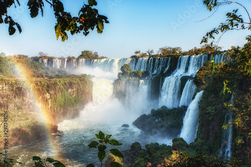 Poster Forest river Beautiful View of Iguazu Falls