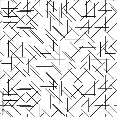 Canvastavla  Geometric Lines Seamless Pattern, Line Seamless Pattern