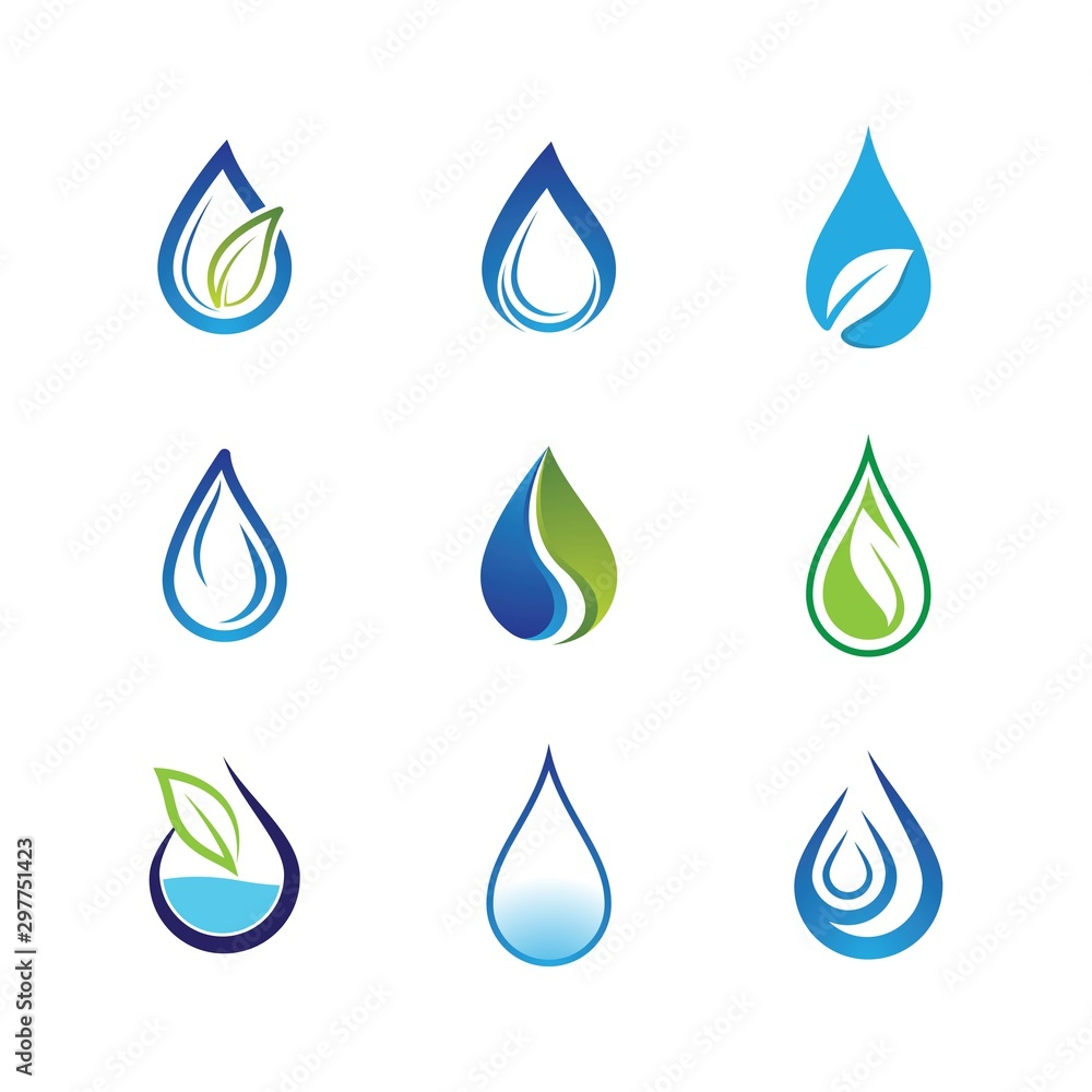 Fototapety, obrazy: Water drop vector icon