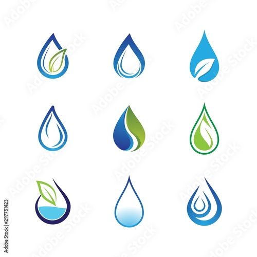 Valokuva Water drop vector icon