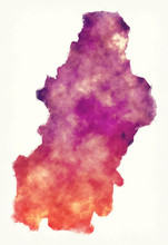 Francisco Morazan Department Watercolor Map Of Honduras