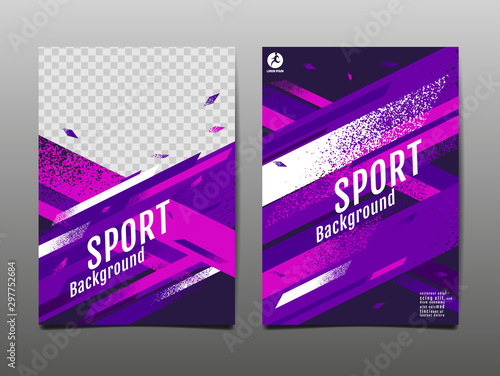 Fotomural  sport Layout , template Design, Abstract Background, Dynamic Poster, Brush Speed Banner, grunge ,Vector Illustration