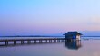 4K time lapse video of Kwan Phayao lake in the evening, Thailand.