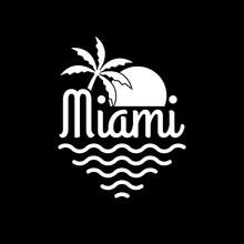 Miami Logo. Miami Beach Banner...